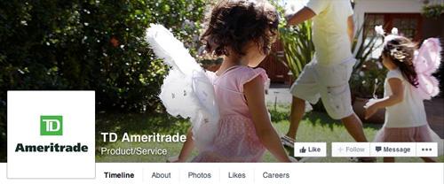 Ameritrade Facebook page